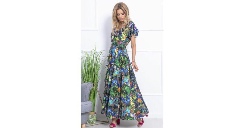 1342829510 Długie sukienki - gładkie i wzorzyste - Sukienki na sezon 2019 - Moda -  Sklep OHSO.pl™