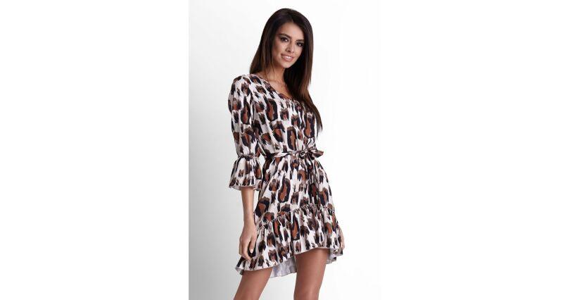 ac1e093255 Sukienki z falbaną - modne sukienki z falbanami - Sukienki na sezon 2019 -  Moda - zwierzęce - wszystkie produkty na stronie - Sklep OHSO.pl™