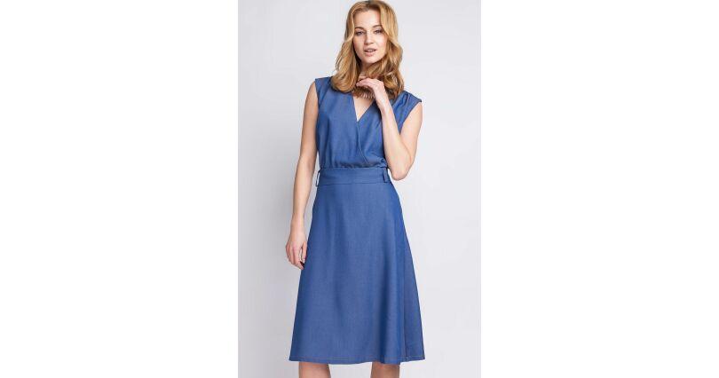 c6adf8dd75 Sukienki jeansowe - klasyczny jeans w modnym wydaniu - Sukienki na sezon  2018 - Moda - wizytowe - niebieski i granat - wszystkie produkty na stronie  - Sklep ...