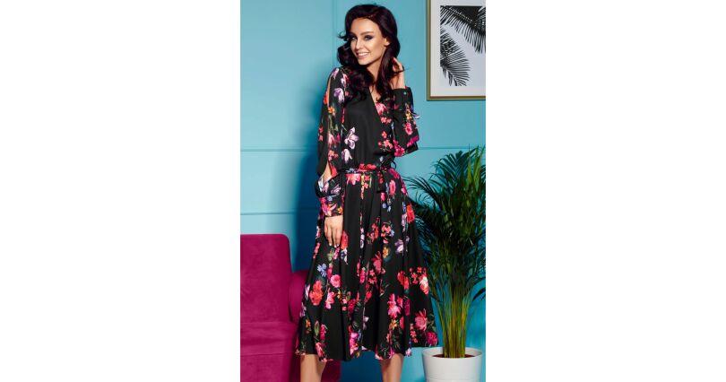 e9e0545959 Sukienki rozkloszowane - Sukienki na sezon 2019 - Moda - długi rękaw -  Sklep OHSO.pl™