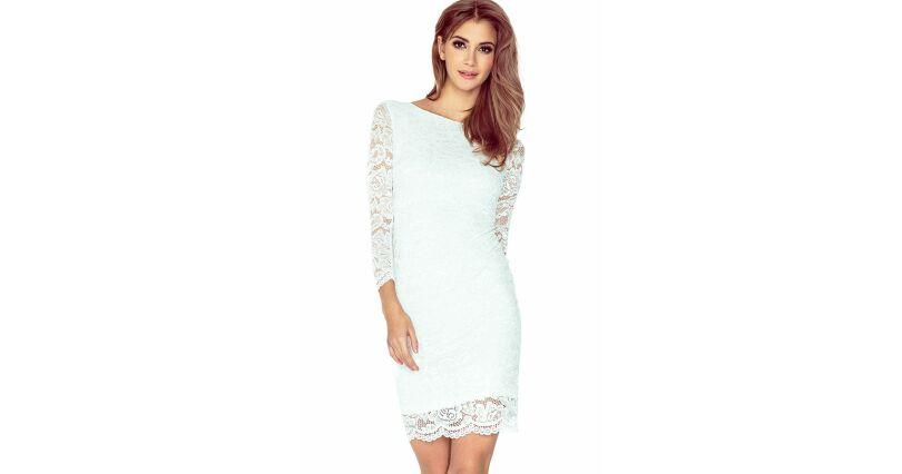0439da6813 Sukienki z koronką - sukienki koronkowe w różnych wzorach - Sukienki - Moda  - Dostępne 24h - wieczorowe - ecru krem - Numoco - wszystkie produkty na  stronie ...